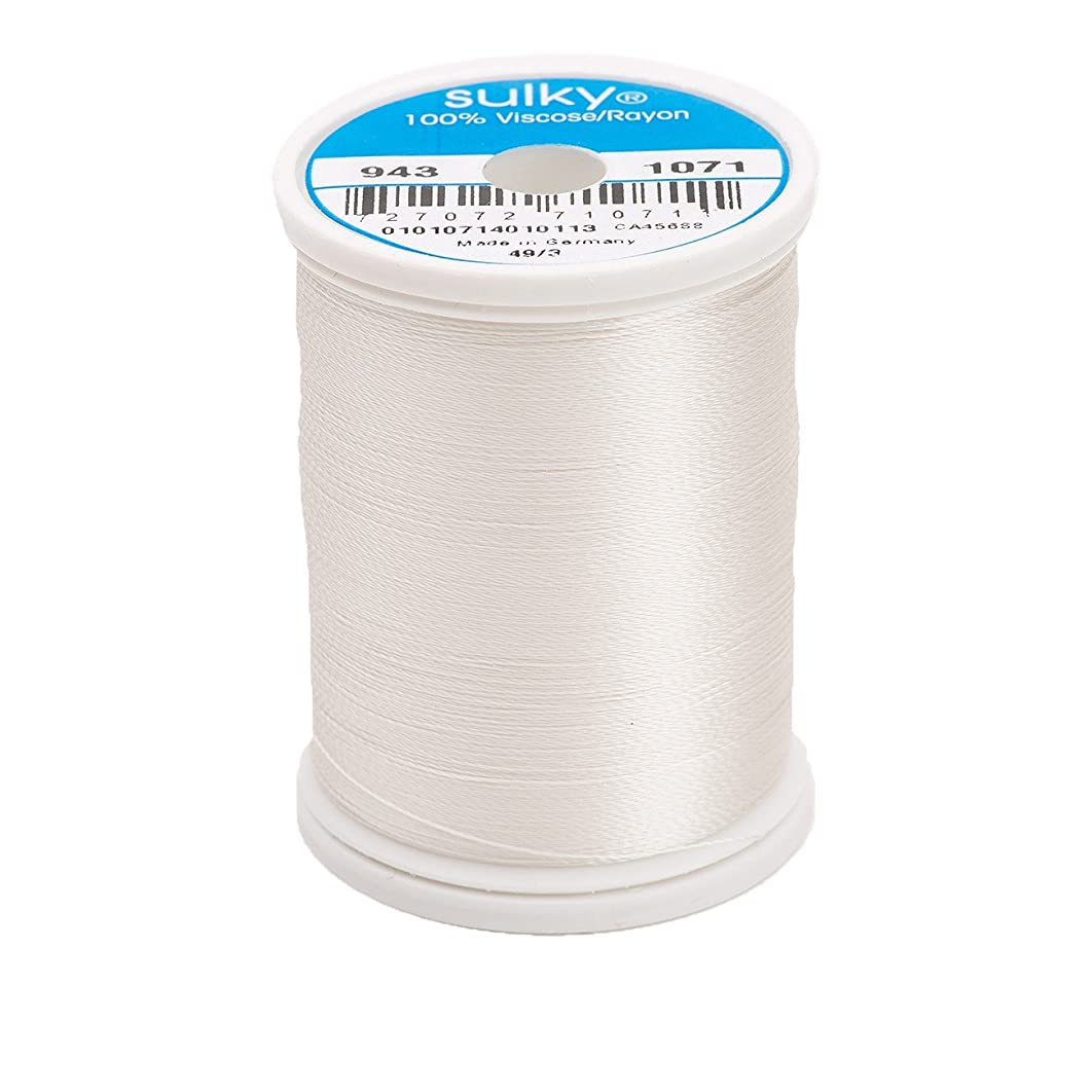 Sulky Of America 268d 40wt 2-Ply Rayon Thread, 850 yd, Off White