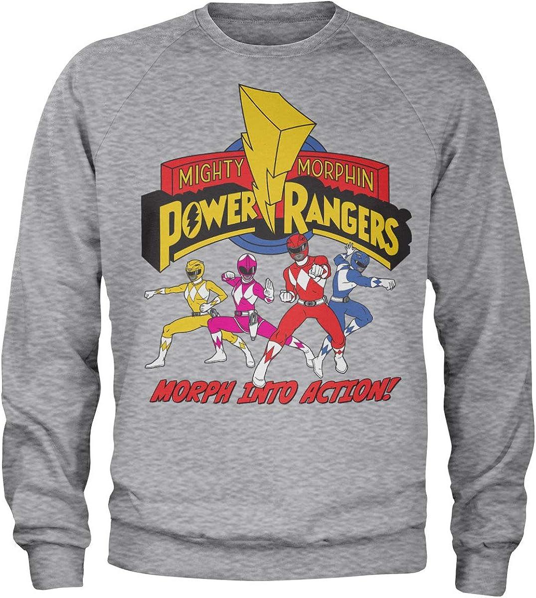 Power Rangers ストアー Officially 店内限界値引き中 セルフラッピング無料 Licensed Action Into Sweatshirt Morph