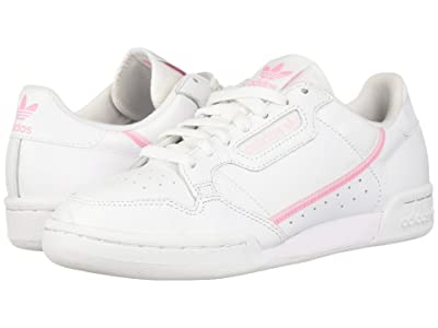 adidas Originals Continental 80 (Footwear White/True Pink/Clear Pink) Women