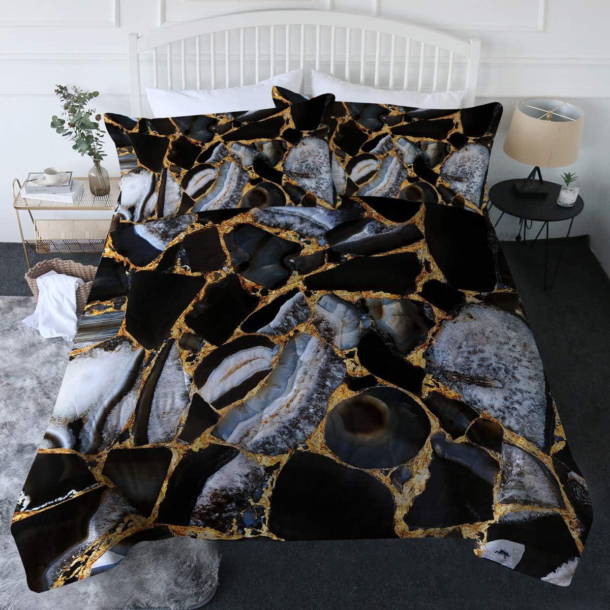 Brand Cheap Sale Venue Blessliving 3 Piece Marble Comforter Las Vegas Mall Set Shams with Blu Pillow –
