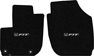 Lloyd Mats LogoMat Custom Floor Mats for Honda Fit 2015 - ON 2Pc Front Set, Black Carpet Mats