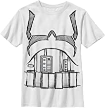 Star Wars Boys' Big Storm Trooper Body Costume Graphic Tee, White, YM
