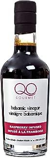 QO Gourmet Thick Flavored Aged Dense Balsamic Vinegar of Modena   High Density RASPBERRY Infused Italian Vinegar   250ml/8.45 fl.oz.   All Natural   Produced & Bottled in Modena, Italy
