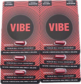 The Red VIBE Black Premium Men Male Enhancement Enhacing Pills (6)