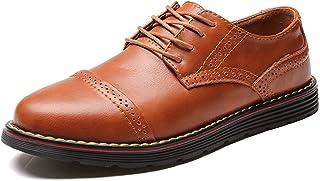Moodeng Brogue Oxford con Cordones,Zapatos de Cuero Hombre Negocios Vestir Derby Informal Boda Calzado Mocasines Zapatos C...