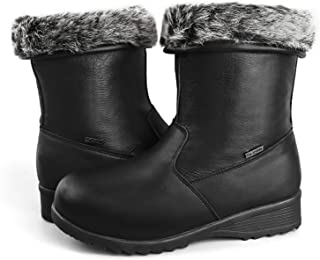 Women's Waterproof Fur-Lined Insulated Winter Boots w/Ice Gripper Alaska