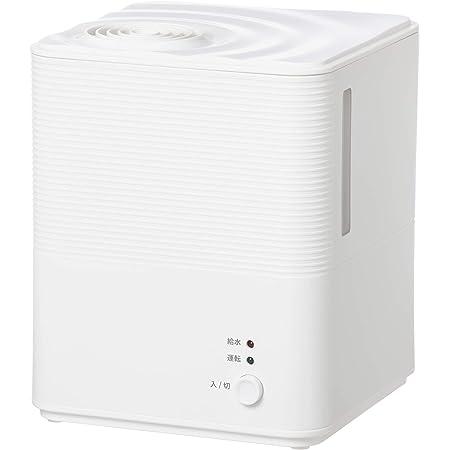 [山善] スチーム式 加熱式 加湿器 (タンク容量 2.5L) (木造約6畳 / プレハブ約9畳) (アロマポット付き) ホワイト KS-GA25(W)