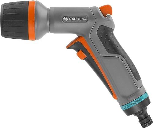 GARDENA Pistolet d'Arrosage et de Nettoyage Comfort Ecopulse™: Pistolet pour Nettoyage Puissant et Économe en Eau, P...