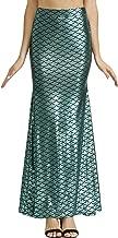 Spadehill Halloween Women's Shiny Little Mermaid Maxi Skirt