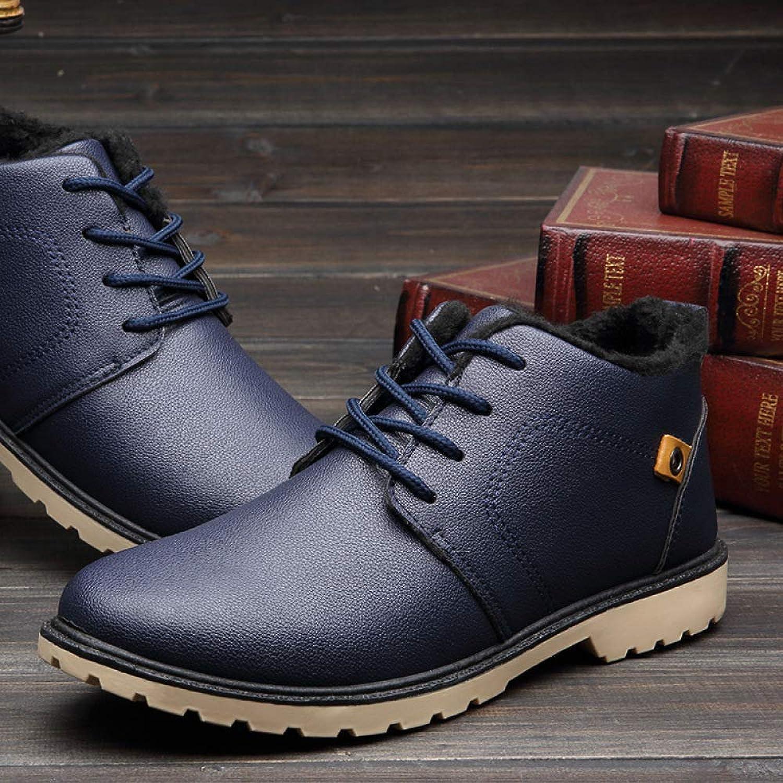 Haiyao Winter Men's Thick Cotton, Warm d Velvet Leather, Men's Men's