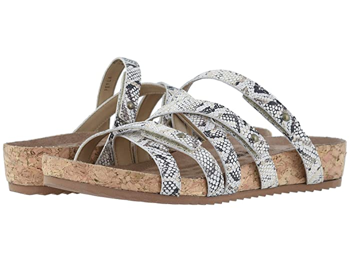 Walking Cradles  Perla (Natural Buffed Snake Print Leather/Cork Wrap) Womens  Shoes
