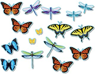 North Star Teacher Resource NST3213 Butterflies and Dragonflies Bulletin Board Accents, 64 Pieces
