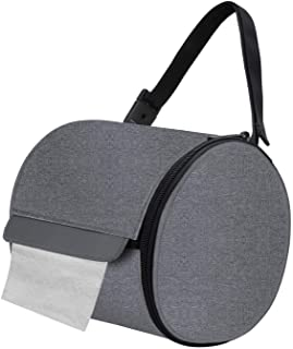 Outdoor Camping Hiking Folding Toilet Paper Hanging Roll Case Bag Holder E9D9