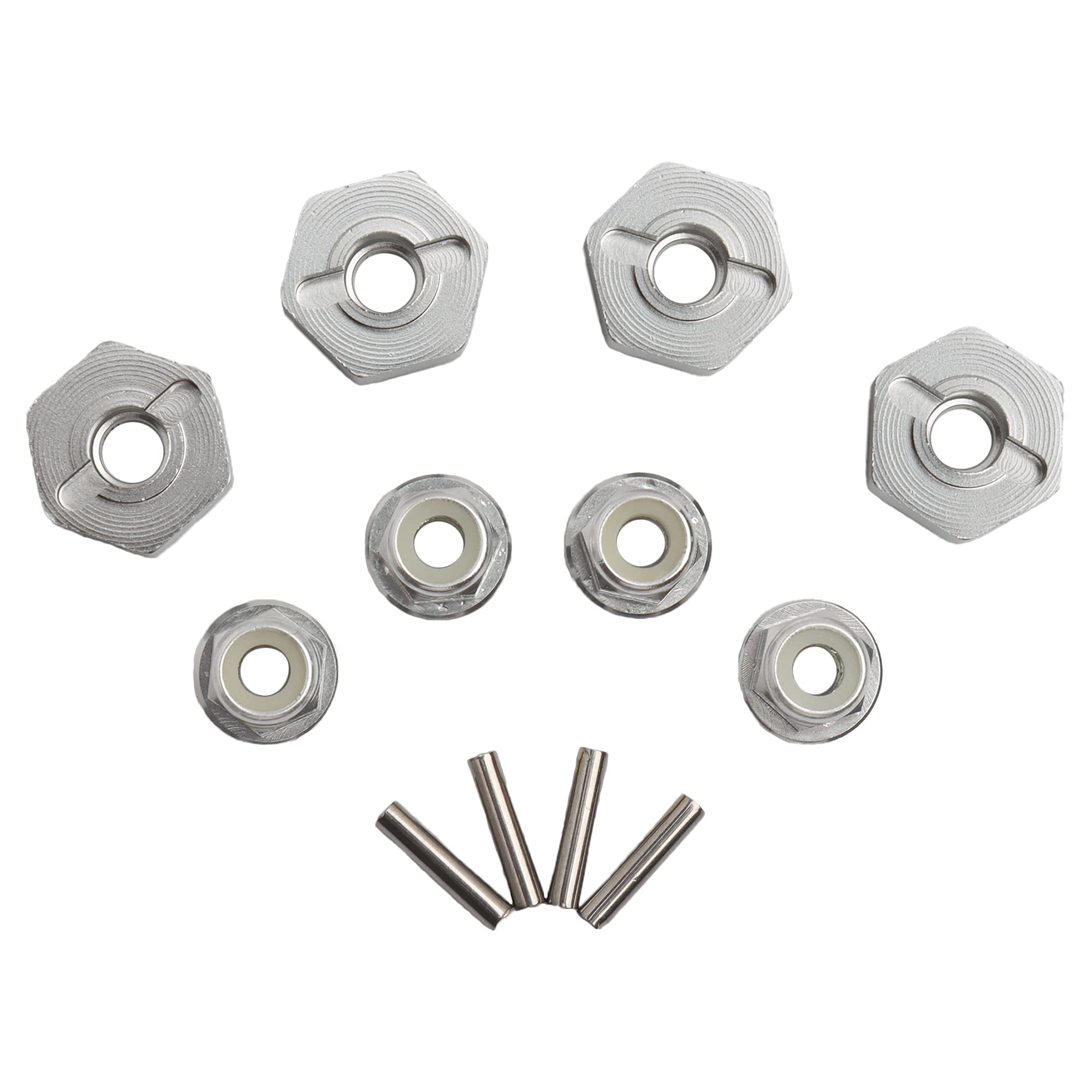 GDOOL 12mm Wheel Hex Hubs Drive Adapter 5mm Thick & Flange s