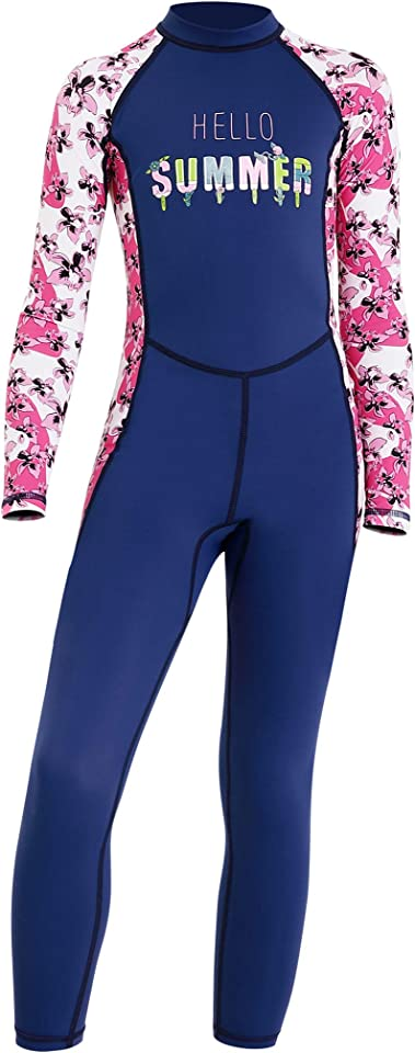 Wetsuit Kids One piece Thermal Swimsuit Long Sleeve Wetsuit Protection UV Beach