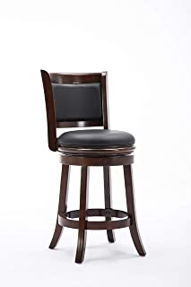 Boraam Augusta Counter Height Swivel Stool, 24-Inch, Cappuccino