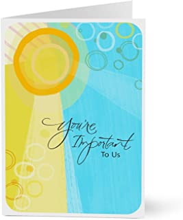 Hallmark Employee Appreciation Cards (Sunlit You're Important) (Pack of 25 Greeting Cards for Business)
