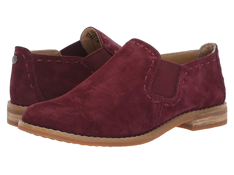 Hush Puppies Chardon Slip-On (Dark Wine Suede) Women