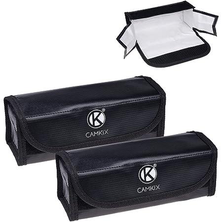 Grandes Bolsas para baterías LiPo Resistentes al Fuego – Paquete de 2 – Bolsa de Seguridad y Almacenamiento – para una Carga y Transporte Seguros – Solución Ideal Equipaje de Mano