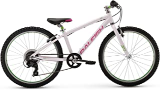 Raleigh Bikes Lily 24 Kids Mountain Bike for Girls Youth 9-12 Years Old, Teal