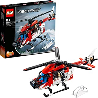 LEGO 42092 Technic Rescue Helicopter 2 in 1 Concept Toy Plane, Model Building Set for 8+ Years Old Boys and Girls