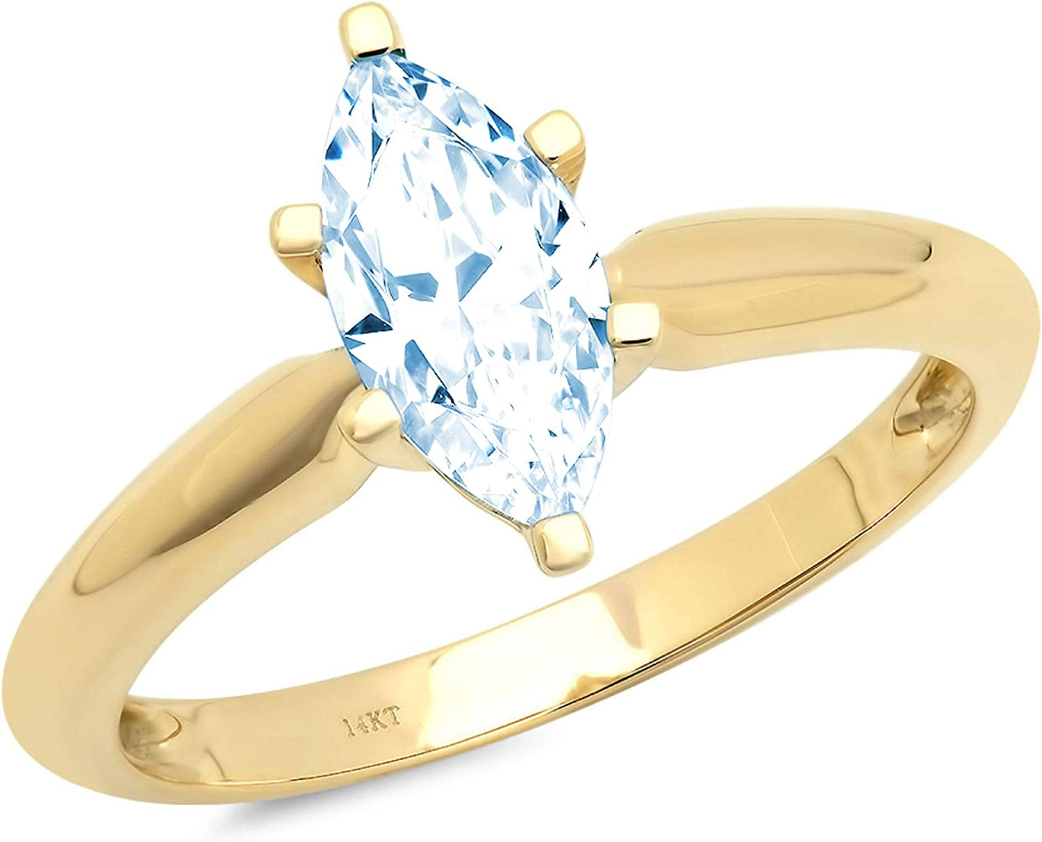 Virginia Beach Mall 1.50 ct Brilliant Marquise Cut NEW before selling Sky Topaz Natural Solitaire Blue