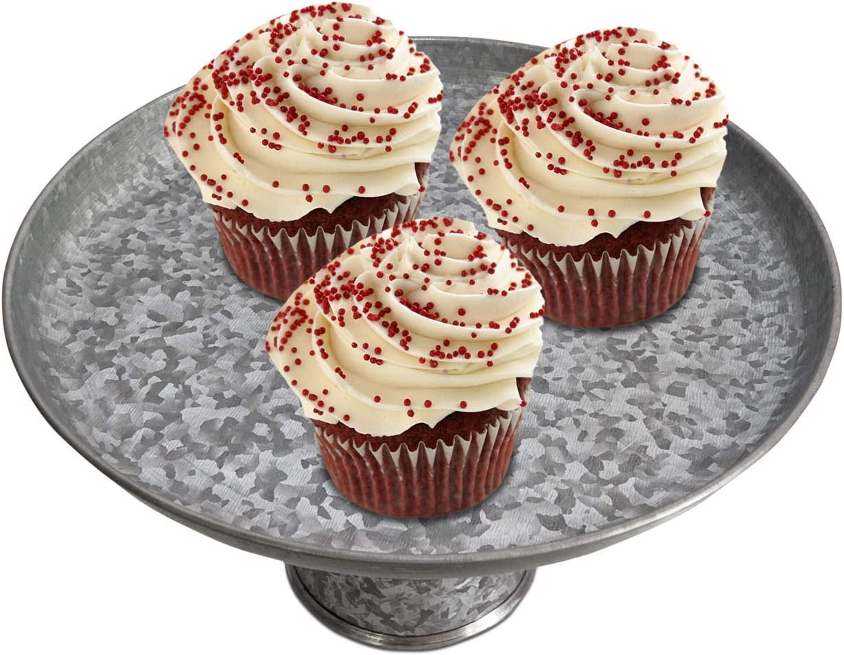 NIRMAN farmhouse Cake Stand cupcake stands cookies or serve for fruit candies birthday parties or any other events Size 12 Dia x 7 High  parties perfect for weddings dessert display stand