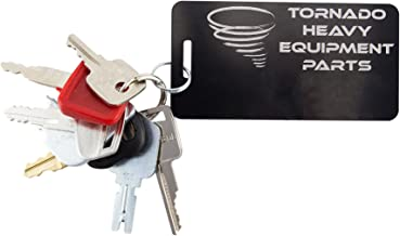 TORNADO HEAVY EQUIPMENT PARTS CONSTRUCTION IGNITION KEY SETS TORNADO - Comes in sets of 7, 10, 12, 14, 16, 18, 20 for backhoes, tools, case, cat, etc. See product description for more info. (7 Key Set)