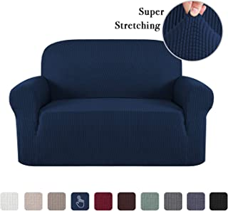 One Piece Super Stretch Sofa Cover Furniture Protector Skid Resistance Jacquard Spandex Couch Covers Fitted Sofa Protector Sofa Slipcovers (Loveseat: 57