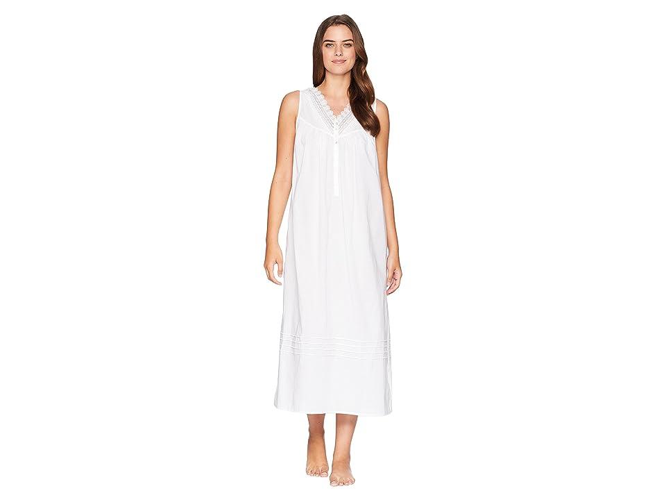 Eileen West Cotton Lawn Ballet Nightgown (Solid White) Women