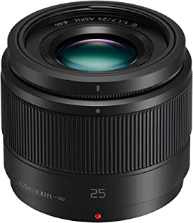 Panasonic LUMIX G 25mm F/1.7 Lens, Black (H-H025E-K)