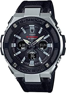GSHOCK Men's Solar Powered Wrist Watch analog-digital Display and Leather Strap, GSTS330AC-1A
