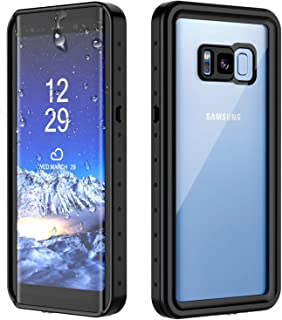 Snowfox Samsung Galaxy S8 Waterproof Case, Full Body Sealed Protection with Built-in Screen Protector IP68 Certified for Samsung Galaxy S8 (Black)