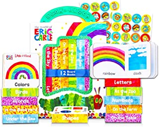 """Eric Carle Board Books Set for Toddlers Babies Kids - Pack of 12""""My First"""" Books with Stickers (ABC, Numbers, Colors, Shap..."""