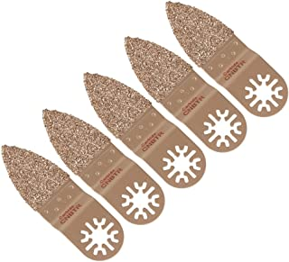 CNBTR Universal Oscillating Finger Carbide Rasp Sanding Rasp Saw Blades Multi-Tool Finger Carbide Rasp for Grinding Stone Set of 5