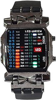 TOOGOO Unisex BINARY LED orologio digitale giorno macchiato sportivo tendenza orologio colore della pistola