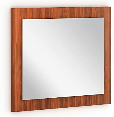 BLUEWUD Akira Engineered Wood Wall Mounted Dressing Mirror (Walnut Standard)