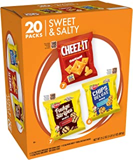 Keebler Sweet & Salty Cookies and Crackers Variety Pack, 21.2 Ounce, 20 Count