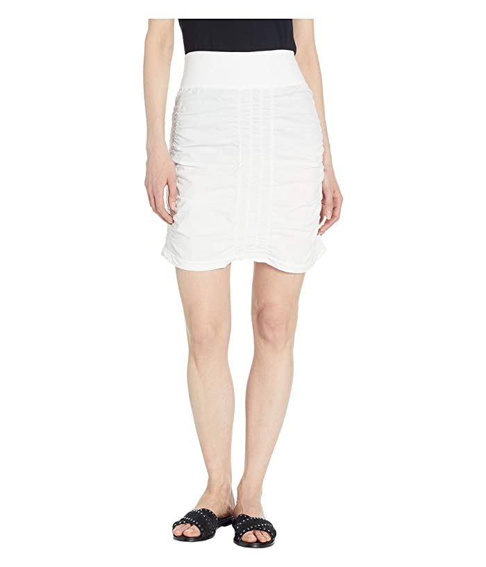 XCVI Wearables Solid Trace Skirt (White) Women