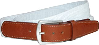 CrookhornDavis Dress Belt for Men, Cotton, Elastic, and Leather Accessories