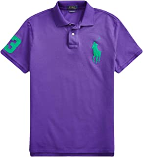 Ralph Lauren Polo Men's Big Pony Custom Slim Fit Cotton Mesh Polo Shirt