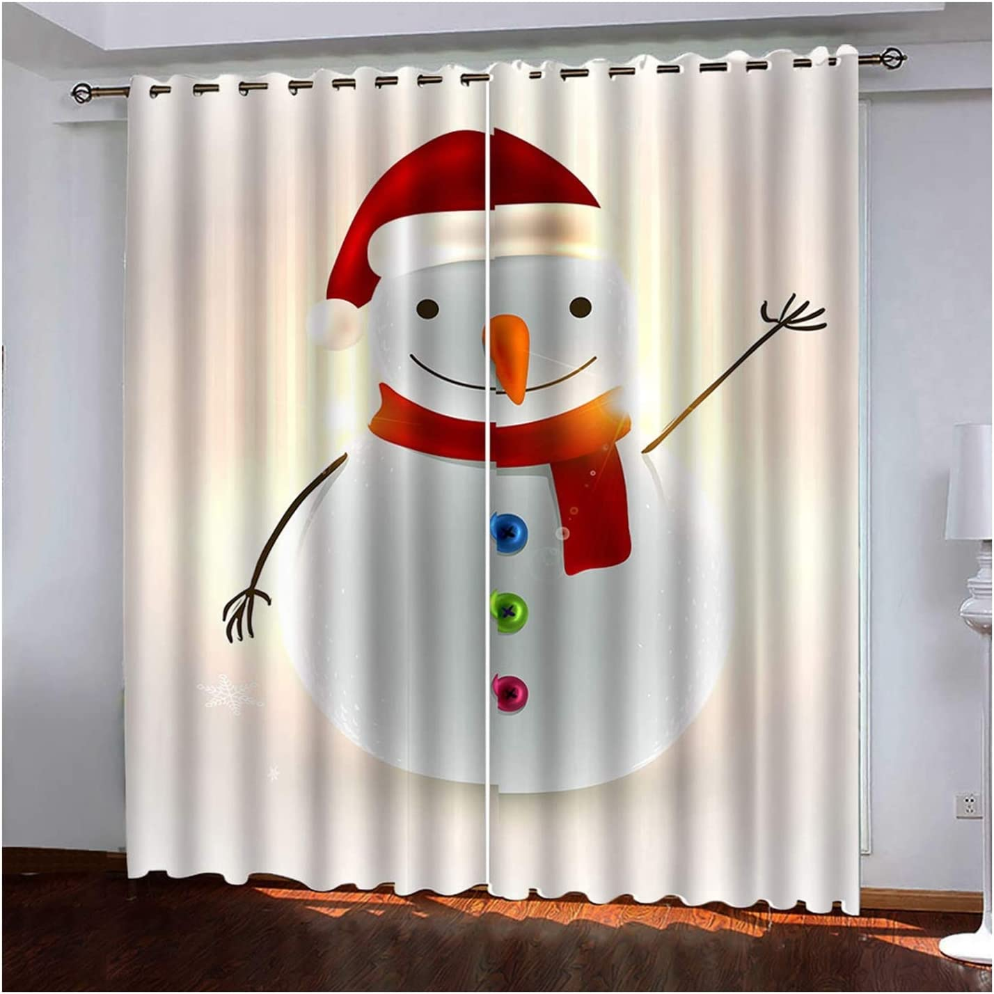 Daesar Direct stock discount Christmas Curtains 2021 spring and summer new Blackout Panel fo 2