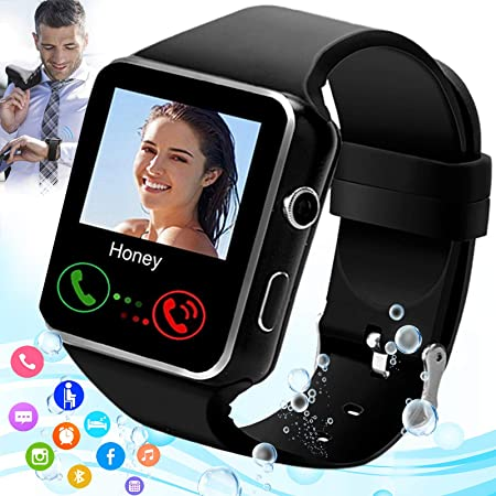 Burxoe Smart Watch Smartwatch For Android Phones Smart Watches Touchscreen With Camera Bluetooth Watch Phone With Sim Card Slot Compatible Android Samsung Ios Phone 12 12 Pro 11 10 Men Women Electronics