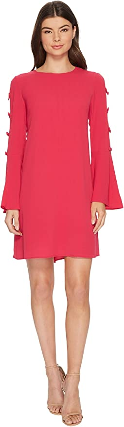 CeCe - Abby Bell Sleeve Bubble Texture Dress