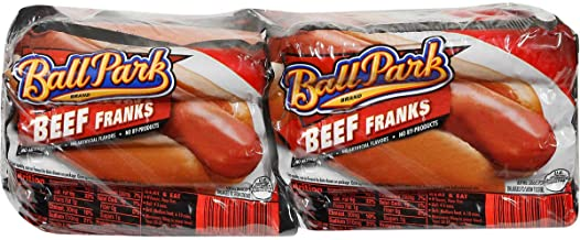 Ballpark Ball Park Beef Franks, 15 Oz (4 Pack) 32 Total Hotdogs, Black