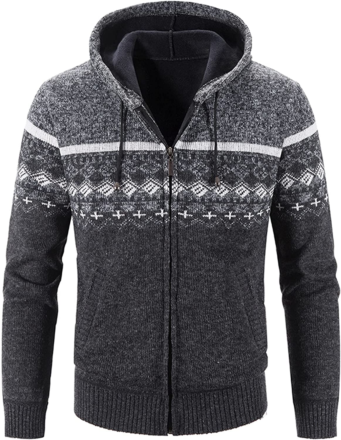 A surprise price is realized Plus Velvet Thicken Hoodies Mens All items in the store Cardigan Jacket Stylish Cotton
