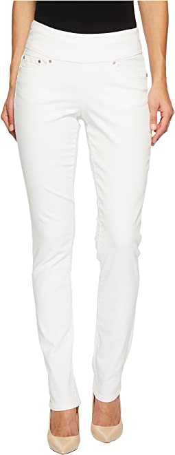 Peri Pull-On Straight in White Denim