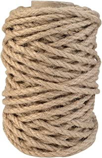 Topbuti 5mm Natural Jute Twine 100 Feet Braided Jute Rope, Crafting Twine String Thick Twine for DIY Artwork, Christmas Tw...