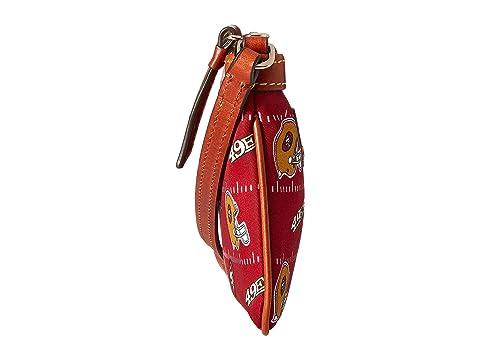 amp; Bourke Wristlet Nylon Slim Red Tan 49Ers Large Dooney amp; NFL 1qTwExppd