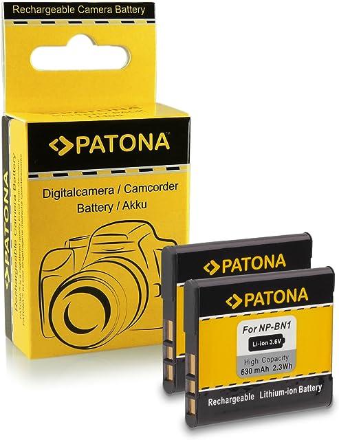 2x Batería NP-BN1 para Sony CyberShot DSC-W310 DSC-W320 DSC-W330 DSC-W350 DSC-W360 DSC-W380 DSC-W390 DSC-W510 DSC-W520 DSC-W530 DSC-T99 DSC-T110 DSC-TF1 DSC-TX5 DSC-TX7 DSC-TX9 DSC-TX10 DSC-TX20 DSC-TX30 DSC-TX55 DSC-TX100V DSC-WX5 DSC-WX7 DSC-WX9 DSC-WX50 y mucho más…